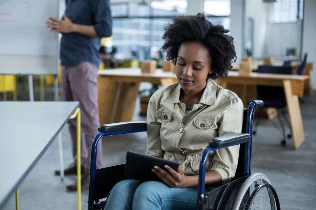 Wheelchair at work